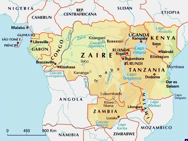 Cartina Africa Centrale.Mappa Dell Africa Centrale