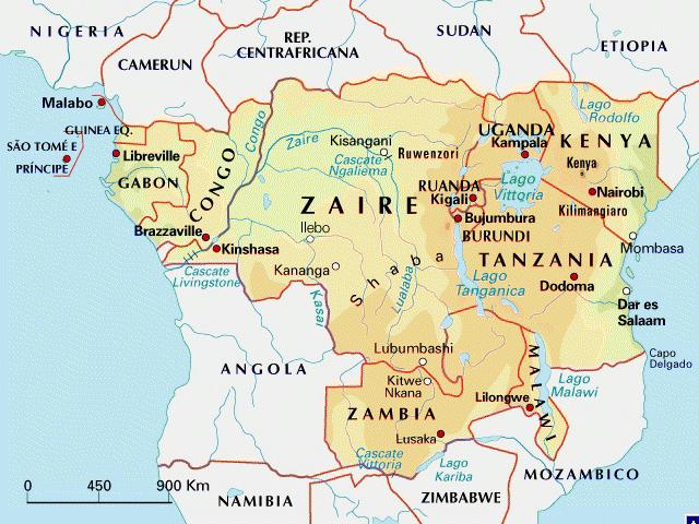Africa Centrale Cartina Politica.Mappa Dell Africa Centrale
