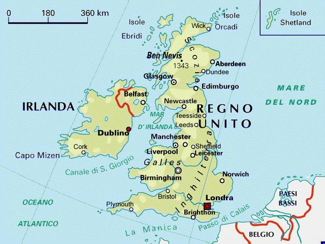 Immagini Della Cartina Della Gran Bretagna.Mappa Gran Bretagna Inghilterra