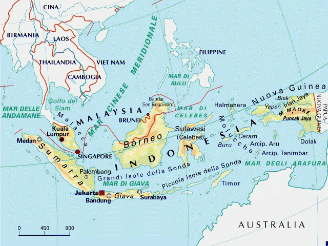 Cartina Geografica Dell Indonesia.Mappa Indonesia